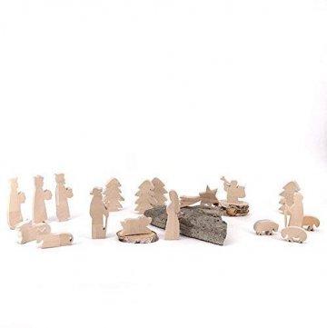Maria, Josef und Krippe - handgefertigte Krippenfiguren aus Holz - Weihnachtsgeschenk, Nikolaus - 6