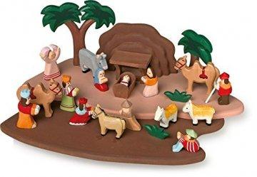 small foot 1839 Krippenspiel handgeschnitzt aus Holz, mit allen Figuren aus der Bibelgeschichte, ab 3 Jahren - 1