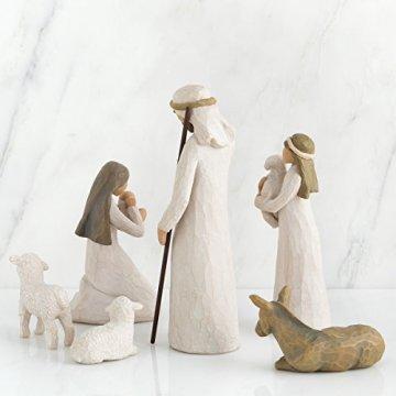 Willow Tree 26005 Figur Weihnachtsartikel Heilige Familie, Holz, Natur, 5,1 x 7,6 x 24,1 cm - 2
