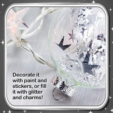 15 Weihnachtskugeln aus transparentem Kunststoff – befüllbare DIY Christbaumkugeln aus Plastik – klare und durchsichtige Kunststoffkugeln zum Befüllen als Christbaumschmuck oder zum Dekorieren - 4