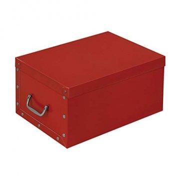 3 Stück XXL Dekokarton in Rot - formschön und hochwertig. Mit Einsätzen für max. 40 Christbaumkugeln oder Weihnachtsdeko. Karton aus stabiler Pappe in Rot mit Griffen aus Kunststoff! Topp - 2