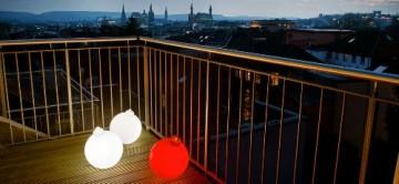 8 seasons design | Leuchtende Christbaumkugel Shining Christmas Ball (E27, Ø 33 cm, UV- & witterungsbeständig, IP44, Innen- und Außenleuchte Weihnachten) weiß - 11