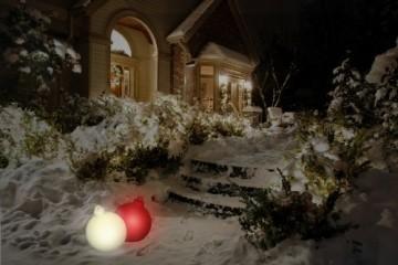 8 seasons design | Leuchtende Christbaumkugel Shining Christmas Ball (E27, Ø 33 cm, UV- & witterungsbeständig, IP44, Innen- und Außenleuchte Weihnachten) weiß - 12