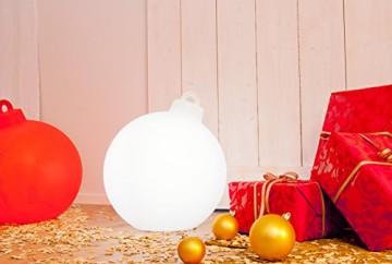8 seasons design | Leuchtende Christbaumkugel Shining Christmas Ball (E27, Ø 33 cm, UV- & witterungsbeständig, IP44, Innen- und Außenleuchte Weihnachten) weiß - 5