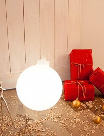 8 seasons design | Leuchtende Christbaumkugel Shining Christmas Ball (E27, Ø 33 cm, UV- & witterungsbeständig, IP44, Innen- und Außenleuchte Weihnachten) weiß - 6