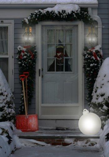 8 seasons design | Leuchtende Christbaumkugel Shining Christmas Ball (E27, Ø 33 cm, UV- & witterungsbeständig, IP44, Innen- und Außenleuchte Weihnachten) weiß - 10