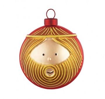 Alessi Weihnachtsbaumkugel Set 4-teilig - 4 Christbaumkugeln Maria, Josef, Jesus-Kind und Engel - 4