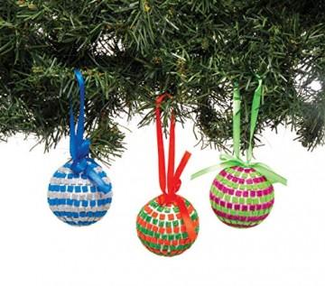 Baker Ross AT196 Bastelset Mosaik-Christbaumkugeln (4 Stück) -Weihnachten Kunst und Basteln für Kinder, Sortiert - 4