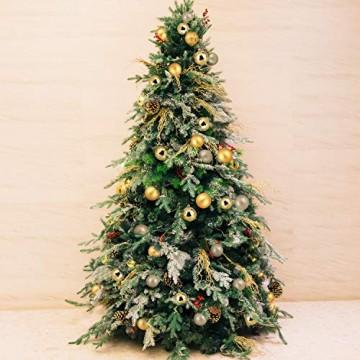 Baumkugeln 24 Stück 4cm Christbaumkugeln Weihnachtskugeln, Weihnachtsdekorationen Baumschmuck für Christmasbaum Weinachtsbaum Tannenbaum, für Weihnachten, Hochzeit, Jubiläum, Party, Feier usw. (gold) - 7
