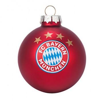 Bayern München Christbaumkugeln / Weihnachtskugeln / Christbaum Schmuck 4er-Set FCB - plus gratis Aufkleber forever München - 2