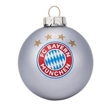 Bayern München Christbaumkugeln / Weihnachtskugeln / Christbaum Schmuck 4er-Set FCB - plus gratis Aufkleber forever München - 3