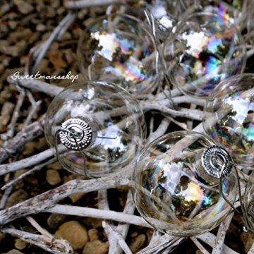 Christbaumkugeln 12 Stück, durchscheinend, runde Weihnachtsbaumkugeln aus Glas, Baumschmuck, 6 cm - 6