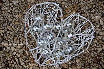 Christbaumkugeln 12 Stück, durchscheinend, runde Weihnachtsbaumkugeln aus Glas, Baumschmuck, 6 cm - 8