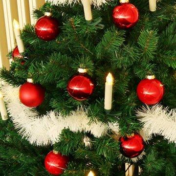 com-four® 24x Weihnachtskugeln, Christbaumkugeln aus echtem Glas für Weihnachten, Baumschmuck für den Christbaum, Ø 6 cm - 3