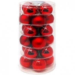 com-four® 24x Weihnachtskugeln, Christbaumkugeln aus echtem Glas für Weihnachten, Baumschmuck für den Christbaum, Ø 6 cm - 1