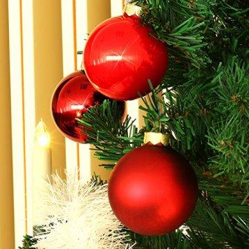 com-four® 24x Weihnachtskugeln, Christbaumkugeln aus echtem Glas für Weihnachten, Baumschmuck für den Christbaum, Ø 6 cm - 4