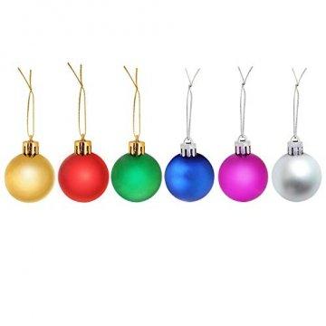 COOLWEST 24-teilig Weihnachtskugel-Set Weihnachtskugeln Christbaumkugeln Weihnachtsbaumschmuck Baumkugeln (Mehrfarbig) MEHRWEG - 2