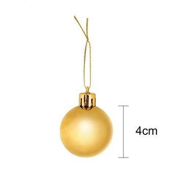 COOLWEST 24-teilig Weihnachtskugel-Set Weihnachtskugeln Christbaumkugeln Weihnachtsbaumschmuck Baumkugeln (Mehrfarbig) MEHRWEG - 3