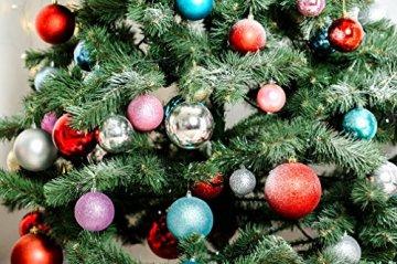 COOLWEST 24-teilig Weihnachtskugel-Set Weihnachtskugeln Christbaumkugeln Weihnachtsbaumschmuck Baumkugeln (Mehrfarbig) MEHRWEG - 4