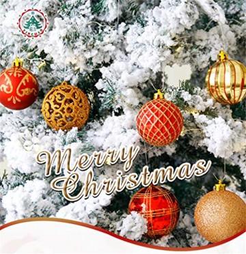 CULASIGN Weihnachtskugeln 20 Stück 6 cm Christbaumschmuck Partys, Babiolen, Weihnachten, Baum-Dekoration,Christbaumkugeln Baumschmuck (Silber + Weiß) - 5