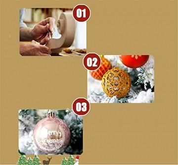 CULASIGN Weihnachtskugeln 20 Stück 6 cm Christbaumschmuck Partys, Babiolen, Weihnachten, Baum-Dekoration,Christbaumkugeln Baumschmuck (Silber + Weiß) - 7