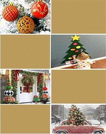 CULASIGN Weihnachtskugeln 20 Stück 6 cm Christbaumschmuck Partys, Babiolen, Weihnachten, Baum-Dekoration,Christbaumkugeln Baumschmuck (Silber + Weiß) - 8