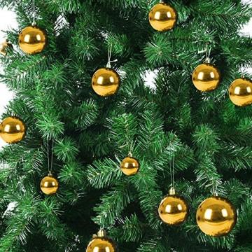 Deuba Weihnachtskugeln Gold 54 Christbaumschmuck Aufhänger Christbaumkugeln für den Weihnachtsbaum Weihnachtsbaumschmuck Weihnachtsbaumkugeln - 3