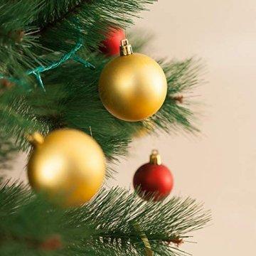 Erlliyeu Weihnachtskugeln,60-70 pcs 1.75-20 cm Kunststoff Christbaumkugeln Weihnachtsdeko mit Aufhänger Glänzend Glitzernd Matt Weihnachtsbaumschmuck Dekoration Rosa Silber - 7