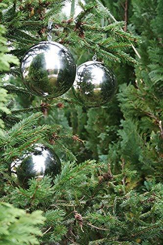 Gebrüder Lomprich Christbaumkugeln Edelstahl poliert 6 Stück Durchmesser 10 cm - 3