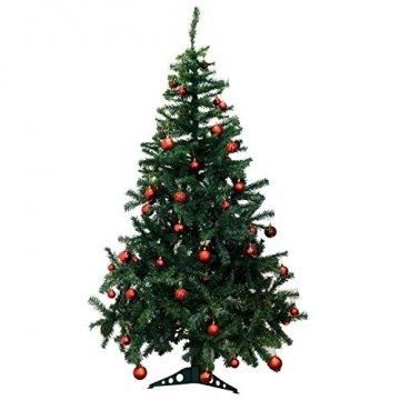 Geschenkestadl 100 Weihnachtskugeln Rot glänzend glitzernd matt Christbaumschmuck bis Ø 6 cm Baumschmuck Weihnachten Deko Anhänger - 4