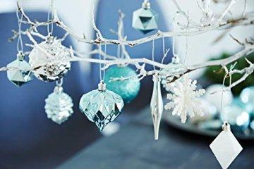 HEITMANN DECO 29er Set Christbaumkugeln Sortiment - Weihnachtsschmuck türkis Silber weiß zum Aufhängen - Kunststoff Christbaumschmuck (Türkis, Weiß, Silber) - 2