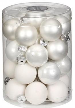 Inge Glas 15112D001 Kugel 30 mm, 28-Stück/Dose, Just white Mix(weiss,porzellanweiss) - 1