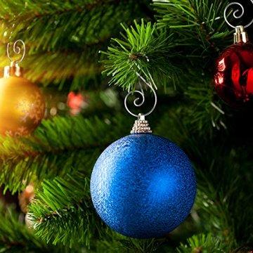 KAKOO 100er Kugelaufhänger Baumhaken S Haken Christbaumkugel Schnellaufhänger Baumkugeln Anhänger Weihnachtskugeln Metallhaken Dekohaken für Weihnachtsschmuck Christbaumschmuck - 2