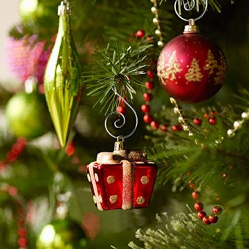 KAKOO 100er Kugelaufhänger Baumhaken S Haken Christbaumkugel Schnellaufhänger Baumkugeln Anhänger Weihnachtskugeln Metallhaken Dekohaken für Weihnachtsschmuck Christbaumschmuck - 3