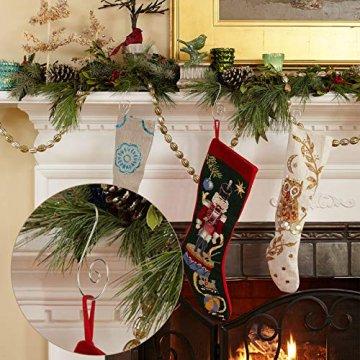 KAKOO 100er Kugelaufhänger Baumhaken S Haken Christbaumkugel Schnellaufhänger Baumkugeln Anhänger Weihnachtskugeln Metallhaken Dekohaken für Weihnachtsschmuck Christbaumschmuck - 4