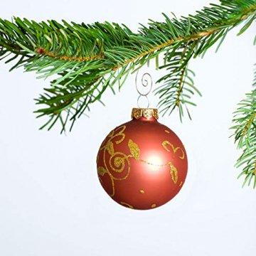 KAKOO 100er Kugelaufhänger Baumhaken S Haken Christbaumkugel Schnellaufhänger Baumkugeln Anhänger Weihnachtskugeln Metallhaken Dekohaken für Weihnachtsschmuck Christbaumschmuck - 5