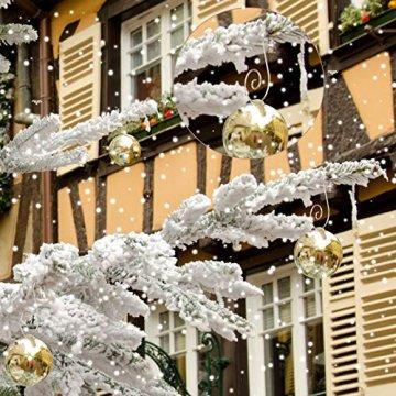 KAKOO 100er Kugelaufhänger Baumhaken S Haken Christbaumkugel Schnellaufhänger Baumkugeln Anhänger Weihnachtskugeln Metallhaken Dekohaken für Weihnachtsschmuck Christbaumschmuck - 6
