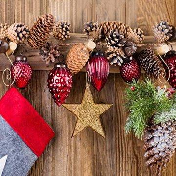 KATOOM 100er Kugelaufhänger Christbaumkugeln Aufhänger Weihnachtskugel Haken Gold Metallhaken Dekohaken für Kugel Weihnachtsbaum Christbaum Baumkugeln Christbaumschmuck - 3