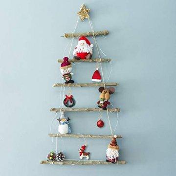 KATOOM 100er Kugelaufhänger Christbaumkugeln Aufhänger Weihnachtskugel Haken Gold Metallhaken Dekohaken für Kugel Weihnachtsbaum Christbaum Baumkugeln Christbaumschmuck - 5