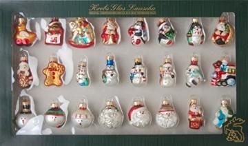 Krebs Glas Lauscha - Mini Figurensortiment - 24 Stück - kleine Glasfiguren als Weihnachtsbaumschmuck - Glaskugeln - 1