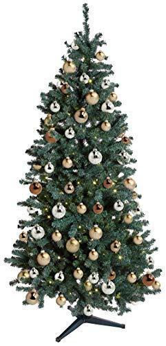 KREBS & SOHN Heitmann Deco 12er Set Glas Christbaumkugeln-Weihnachtsbaum Deko zum Aufhängen-Weihnachtskugeln 8 cm-Braun Silber, Gold, (8cm Ø Durchmesser) - 3