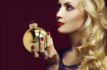 KREBS & SOHN Heitmann Deco 20er Set Glas Christbaumkugeln-Weihnachtsbaum Deko zum Aufhängen-Weihnachtskugeln 5,7 cm-Gold, Elfenbein, (5,7cm Ø Durchmesser) - 4