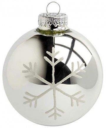 KREBS & SOHN Heitmann Deco 20er Set Glas Christbaumkugeln-Weihnachtsbaum Deko zum Aufhängen-Weihnachtskugeln 5,7 cm-Gold, Braun/Silber (5,7cm Ø Durchmesser) - 2
