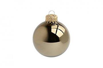 KREBS & SOHN Heitmann Deco 20er Set Glas Christbaumkugeln-Weihnachtsbaum Deko zum Aufhängen-Weihnachtskugeln 5,7 cm-Gold, Braun/Silber (5,7cm Ø Durchmesser) - 4