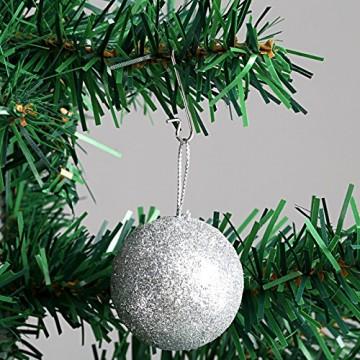 Naler 120 Kugelaufhänger S Haken Klein Schnellaufhänger für Weihnachtskugel Silber - 5