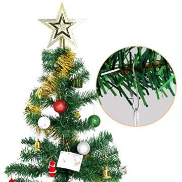 Naler 120 Kugelaufhänger S Haken Klein Schnellaufhänger für Weihnachtskugel Silber - 6