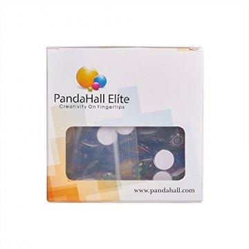 PandaHall 200 Stück Bedrucktes Glas Halbrund Kuppel Glascabochons Gemischte Farbe Größe 10x4mm - 6