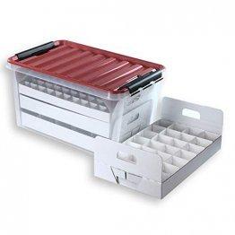 Quality-Collection Top-Box Compact - Aufbewahrungsbox für Christbaumkugeln - 1