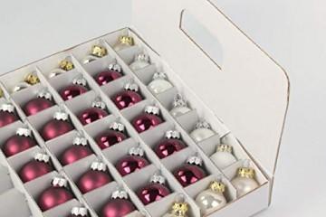 Quality-Collection Top-Box Compact - Aufbewahrungsbox für Christbaumkugeln - 4
