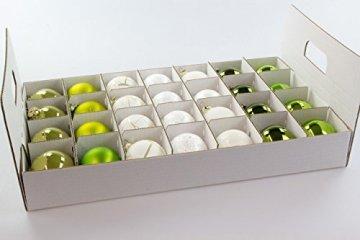 Quality-Collection Weihnachtskugel Box, Christbaumkugel Box, Christbaumschmuck und Deko (47 Liter) - 2